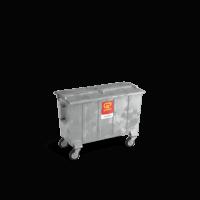 Bedrijfsafval container (staal) vanaf 770l
